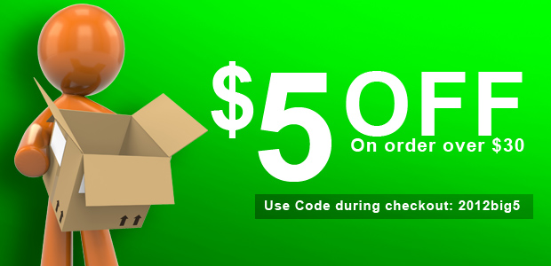 $5 Off on order of $30 or more